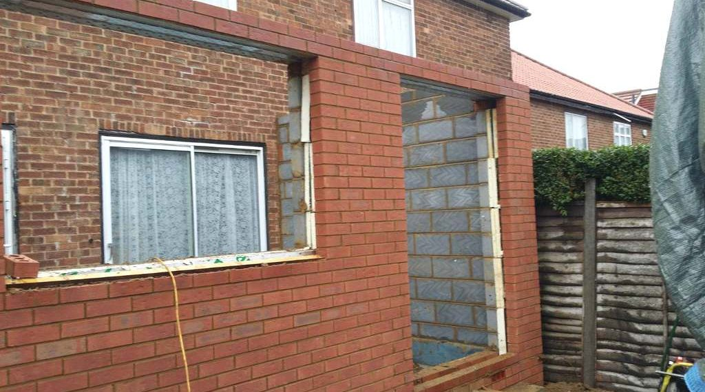 Brickwork – home extension